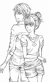 Couple Lineart Couples Deviantart Anime Coloring Adult Pages Drawings Sheets Drawing Cute Quotes Manga Colouring Sketch Visit Print Prints sketch template