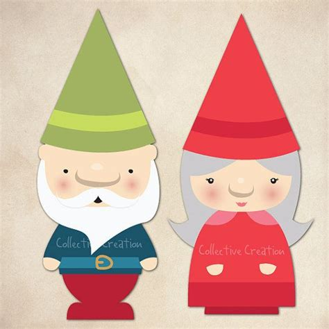 cards gnomes toadstools images  pinterest