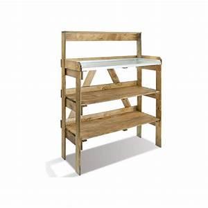 Etagere Pour Serre : table de pr paration en bois avec tag res pour semis ~ Premium-room.com Idées de Décoration