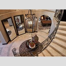 Floor Mirrors In Curved Entry Way Jeff Andrews Design
