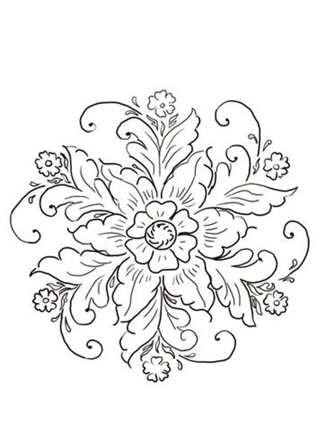 norwegian rosemaling coloring page  norway category
