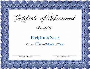 award blank certificates certificate templates With certificate templates for pages
