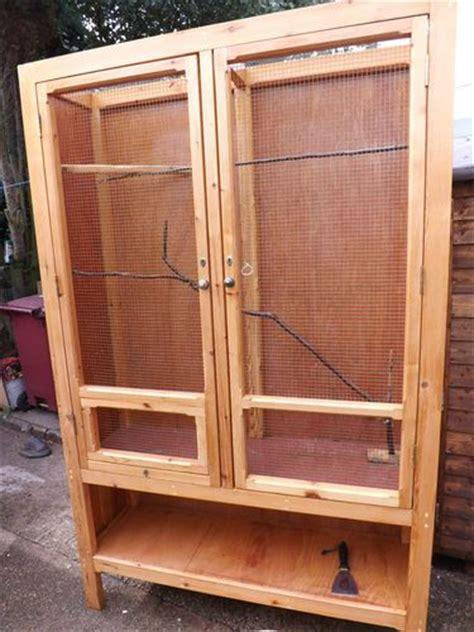 bird parrot cage vivarium reptile house custom design    kind  real wood pinterest