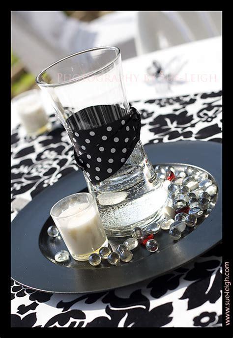 black white centerpiece ideas