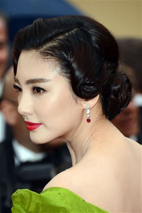 zhang yuqis vintage chignon hairstyle wedding formal