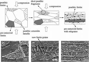 Upper row: Schematical sketch of the microstructure ...