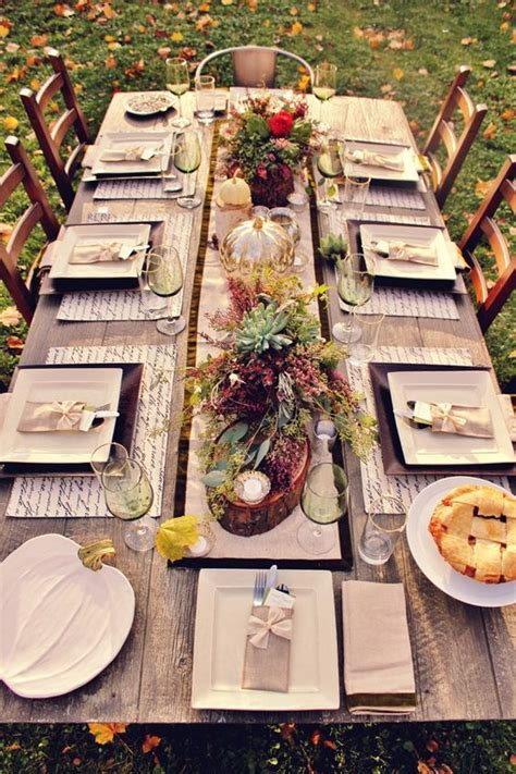 thanksgiving outdoor table decorations 23 chic outdoor thanksgiving table setting ideas shelterness