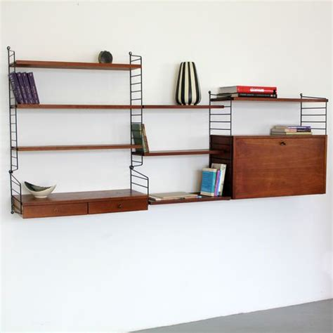 Original Nisse Strinning Teakwood Wall-unit 60s