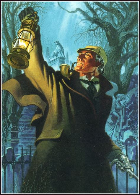 holmes sherlock steranko jim hound baskervilles comics detective painting illustration revenge artist illustrations comic cap paintings pop ripjaggerdojo cards signed