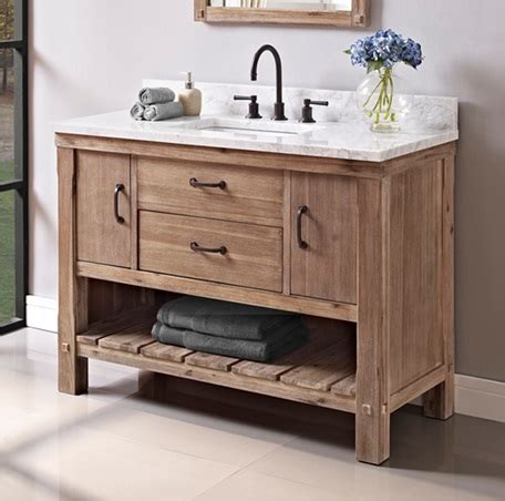 """Napa 48"""" Open Shelf Vanity  Sonoma Sand  Fairmont. Seeded Glass. Best Countertop Material. Outdoor Mirror. Side Table With Baskets. Porthole Mirrors. How To Hide Air Conditioner Unit Outside. Pedestal Desk. Latch Tile"""
