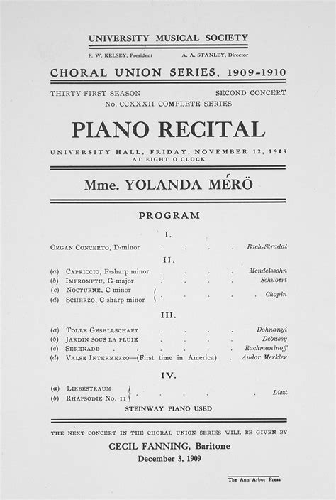 piano recital program recital program template free