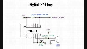 World U0026 39 S Simplest Digital Fm Bug Transmitter  Circuit Diagram