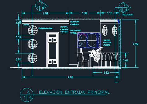 italian restaurant  floor plans  dwg design section