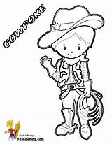 Cowboy Coloring Cowboys Yescoloring Em Ride sketch template