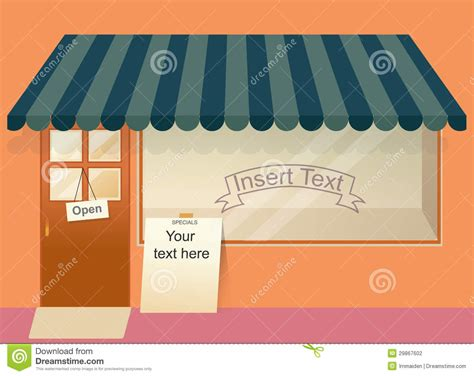 store template shop with empty window template stock photography image 29867602