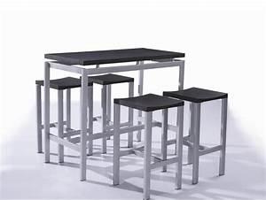 Petit Tabouret Pas Cher : table et chaise de bar pas cher cuisine en image ~ Teatrodelosmanantiales.com Idées de Décoration