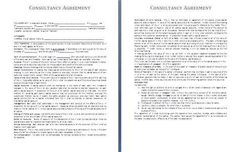 b consult template it consultant contract template free printable documents
