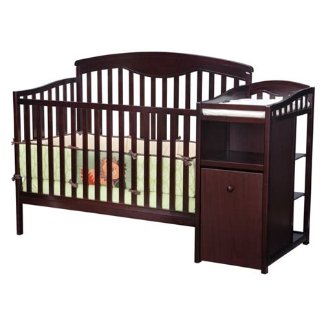 baby crib with changer delta children s products shelby crib and changer in