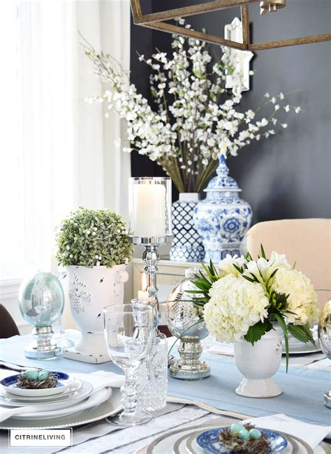 citrineliving  simple  elegant easter tablescape