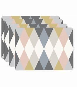 Set De Table Design : set de table design en li ge stratifi multicolore arlequin set de 4 ~ Teatrodelosmanantiales.com Idées de Décoration