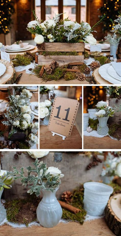 rustic winter woodland wedding decorations party ideas