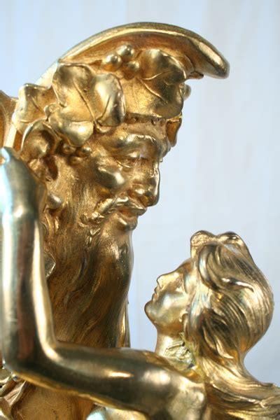 ferville suan art nouveau antique gold gilded lady figural