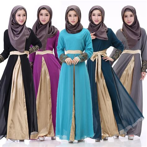clothing busana fashion shop sleeve muslim evening prom dresses