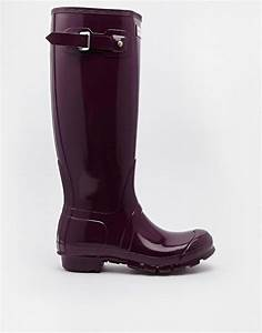 Hunter | Hunter Original Tall Gloss Bright Plum Wellington ...