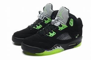 Air Jordan 5 Retro Quai 54 Black Radiant Green Cheap For