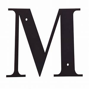 village wrought iron letter m large With giant letter m