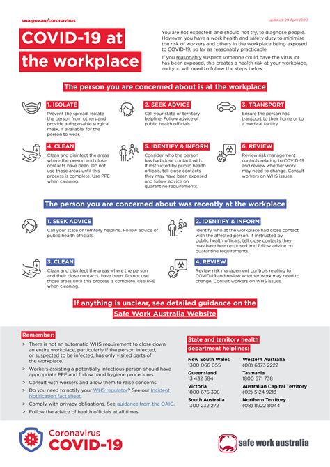 What to do if a worker has COVID-19 - Infographic | Safe ...