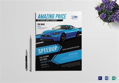 automotive car sales flyer templates  premium