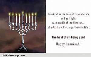 hanukkah blessings free friends family ecards
