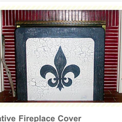 decorative fireplace covers diy decorative fireplace cover fireplace screens