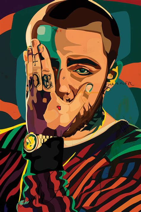 mac miller design canvas wall art  dai chris art icanvas