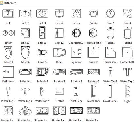bathroom symbols floor plan symbols architecture