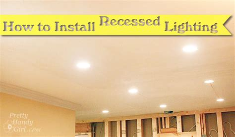 how to install can lights electric work recessed lights