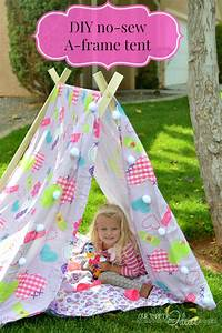 DIY Tent & a Slumber Party idea - Our Thrifty Ideas