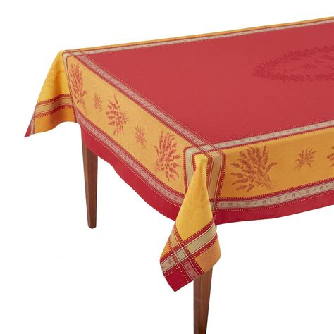 french jacquard table runner senanque rouge orange french jacquard tablecloth occitan