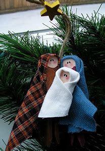 fabric nativity christmas tree ornament