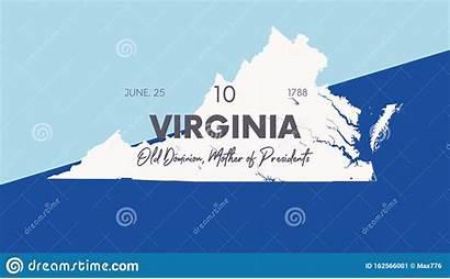 States Virginia United Union Staten Map Datum