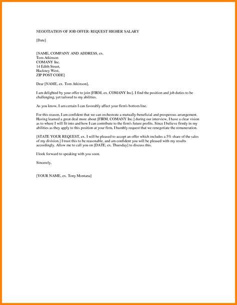 counter offer letter samples