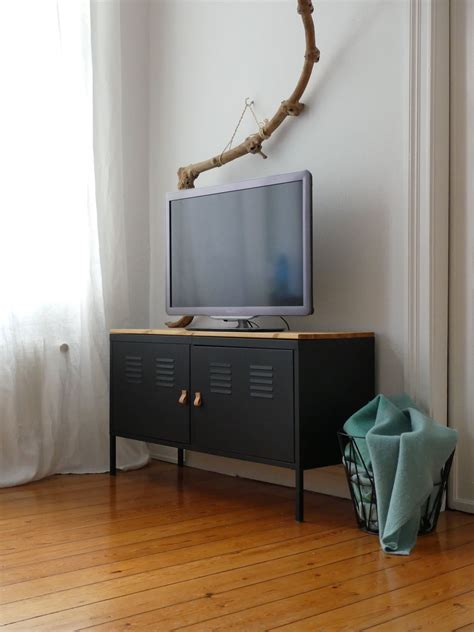 Ikea Ps Sideboard by Black Painted Ikea Ps Hack Paint Glossy Black With Wood