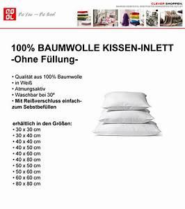Kissen Inlett 80x80 : kissen inlett 100 baumwolle in wei in 16 gr en f llkissen ohne f llung ebay ~ Markanthonyermac.com Haus und Dekorationen