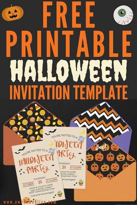 DIY Halloween party invitation free printable template