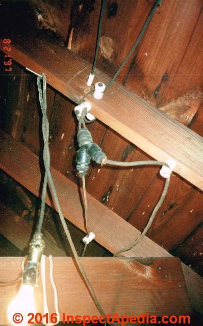knob tube wiring   identify inspect evaluate