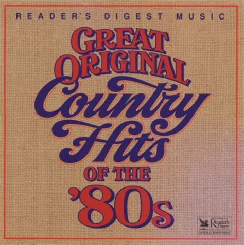 Various Artists  Great Original Country Hits Of The '80s