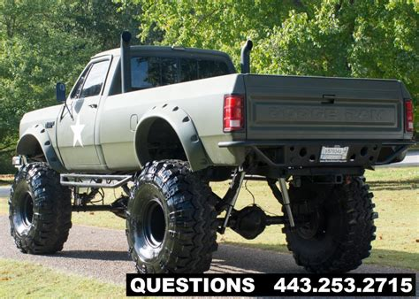 dodge mud truck 1989 dodge ram 2500 mud truck monster truck for sale