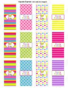 Printable Mini Candy Bar Wrappers