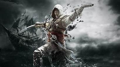 Creed Flag Wallpapers Assassin Unity Fantasy Kenway